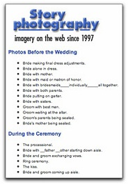 Writing A Shot List For The Weddings You Shoot