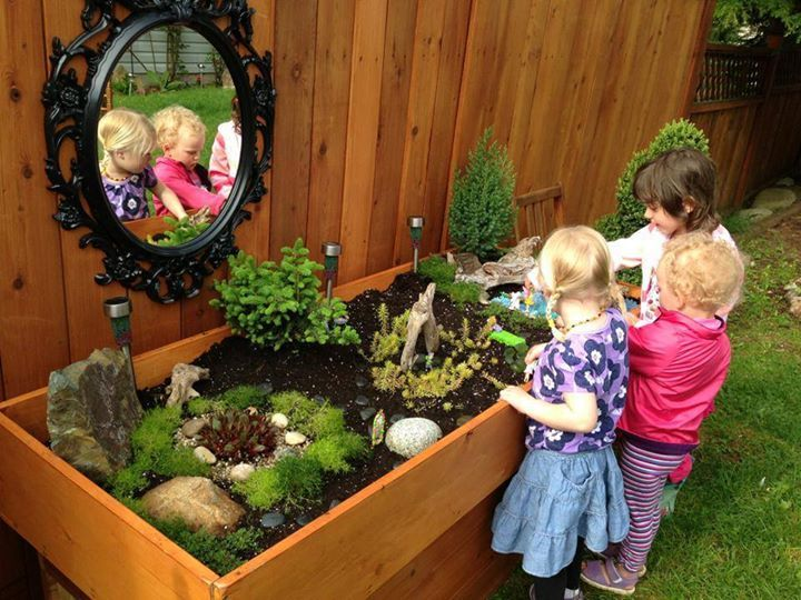 7 ideas to make a play corner for children in the garden Kids garden ideas