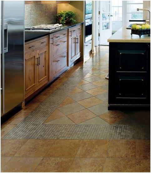 Floor tile patterns kitchen
