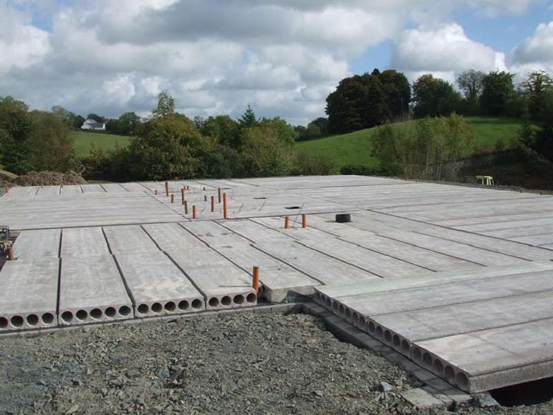 Residential Precast Concrete Slabs : Hollow core concrete slab flooring what it is